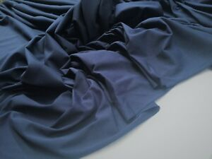 FRENCH-NAVY-PIQUE-POLY-COTTON-KNIT-FABRIC-HF24