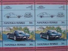 1963 CHEVROLET CORVETTE Stingray Car 50-Stamp Sheet / Auto 100 Leaders of World