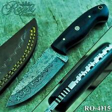 Royal Custom Made Damascus Steel Hunting Skinner Full Tang EDC Knife