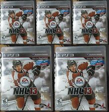 SONY PS3 Wholesale Lots 5pcs of NHL 13 (Sony PlayStation 3, 2012)