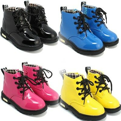 New Baby Girls Boys Martin Boots Shoes Childrens Kids Water-proof shoes S 6-4.5