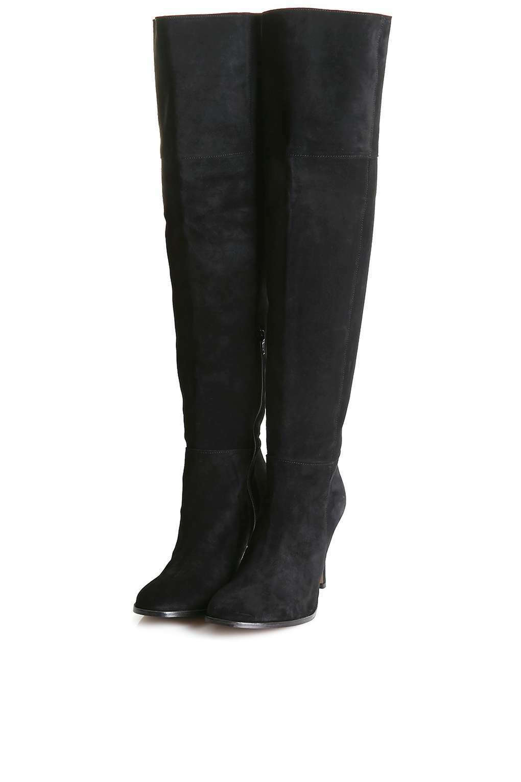 New TOPSHOP 'bubble' over the knee real suede boots eu 36  sale