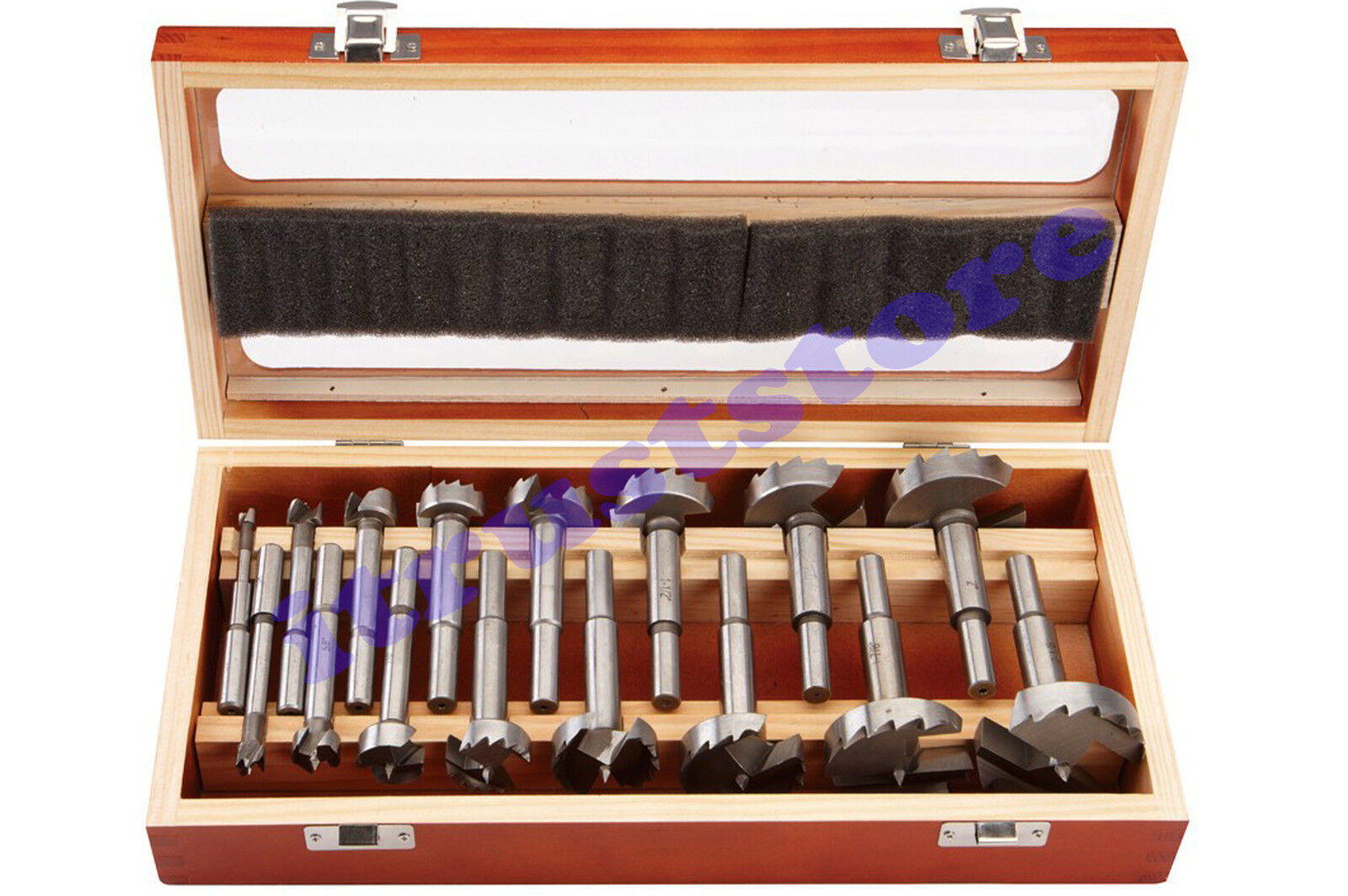 16 PC TIP FORSTNER WOOD BORING DRILL BIT TOOL FORSTENER SET FORESTNER DRILLING