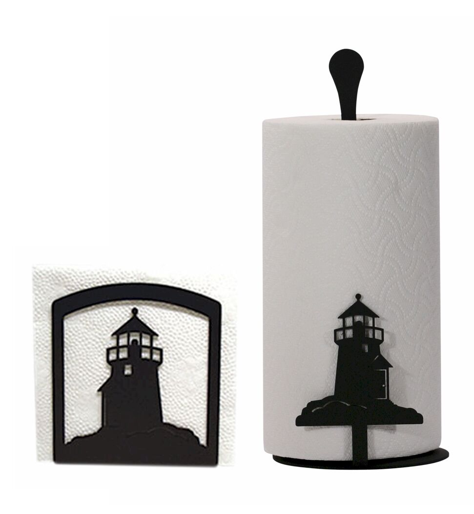 Napkin Holder and Paper Towel holder holder holder set with the Lighthouse design - NEW be124e