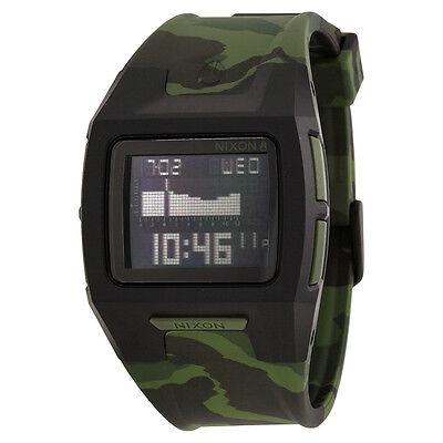 Nixon Digital Dial Green Camouflage Polyurethane Mens Watch A2891629