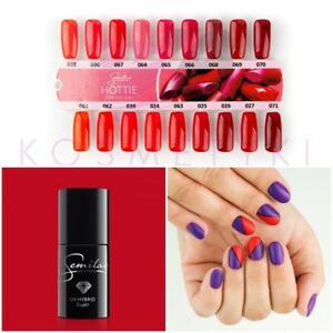 Image Is Loading Uv Hybrid Nail Polish Semilac 7ml Poppy Red