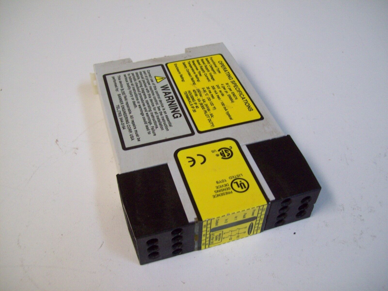 Banner At-fm-10k Two Hand Controller Safety Relay ATFM10K on