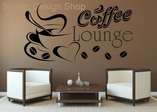 Coffee Lounge Kaffee Wandaufkleber Wandtattoo Wandsticker Aufkleber Küche Deko