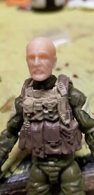 "MH123 Custom Cast head use w//3.75/"" Star Wars GI Joe Acid Rain action figures"