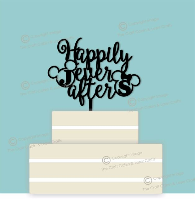Disney Personalised ''Happily Ever After'' Wedding Cake Topper, Couple