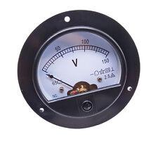Us Stock Dc 0 150v Round Analog Volt Pointer Needle Panel Meter Voltmeter
