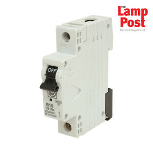 mk 5916s mk electric 16a 16 amp sp mcb miniature circuit breaker rh ebay in Cooper Wiring Devices Arrow Hart Wiring Devices