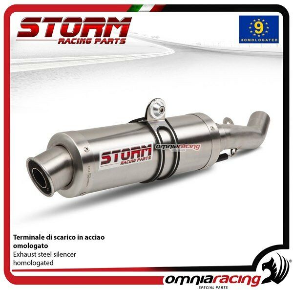 Storm GP Exhaust steel approved for HONDA CBR600F 2001>2010