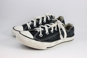 1aaaf05d03ac YOUTH SIZE 1 BLACK CONVERSE ALL STAR TENNIS SHOES OR SNEAKERS