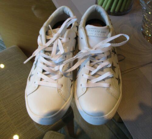 Star White Glitter Trainer Street Size 4 Skechers New Leather OEnFqq