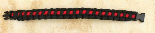 Thin Red Line Para Cordon Militaire Weave Bracelet avec Toboggan Fermoir Service D/'incendie