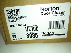 Norton-850BF-Door-Closer-Conforms-UL10C-WHSE-8985-Gold-Finish-NEW-NOS