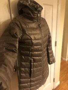 Details zu The North Face 550 Quilted 75% Down Parka puffer Sparkling Fabric Coat Sz M