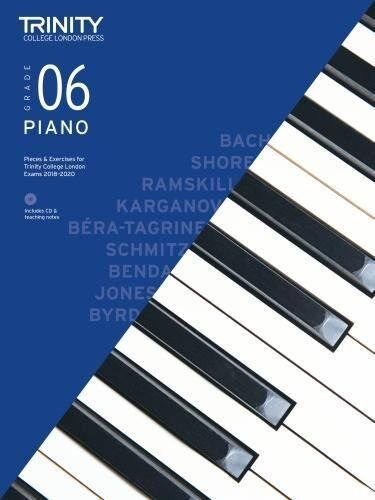 Trinity College Piano Pieces & Exercises 2018-20 Grade 6 Book + CD (NEW)