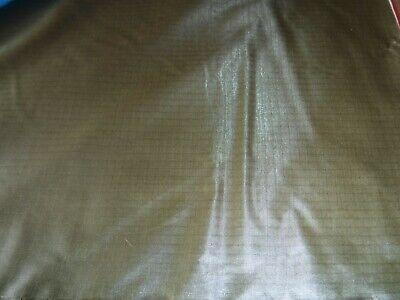 Khaki // gold x 100 metre roll Ripstop Nylon Factory seconds Parachute Nylon