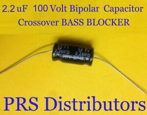 Capacitor 80 uF 100 Volt BIPOLAR BASS BLOCKER SPEAKER TWEETER CROSSOVER 1 Pair