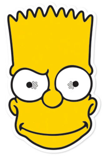 Official THE SIMPSONS card Party Face Masks Choice of Single Mask Value 6 Pack