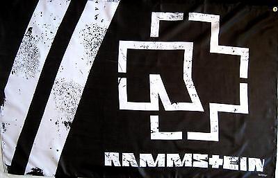 "RAMMSTEIN FLAGGE / FAHNE ""LOGO S/W"" - POSTERFLAG -"