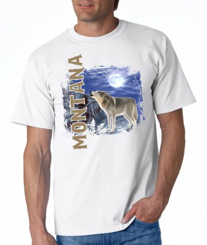 NEW Montana Vert Wolf White T-shirt S M L XL 2XL 3XL 4XL Men/'s Ladies/'