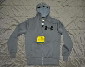 52a9108d Details about Under Armour Rally Storm Mens Hoodie Hoody Graphite Gray  Small NWT FAST HANDLING