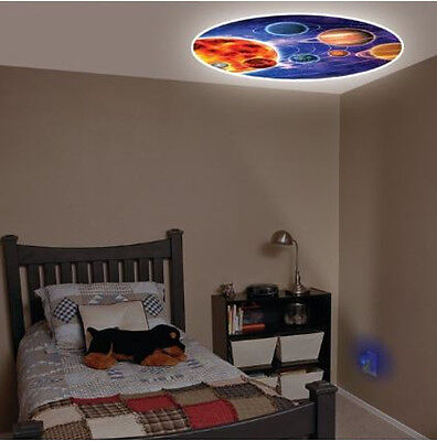 Jasco Blue Solar System Projection LED Night Light for Image on Wall or  Ceiling | eBay
