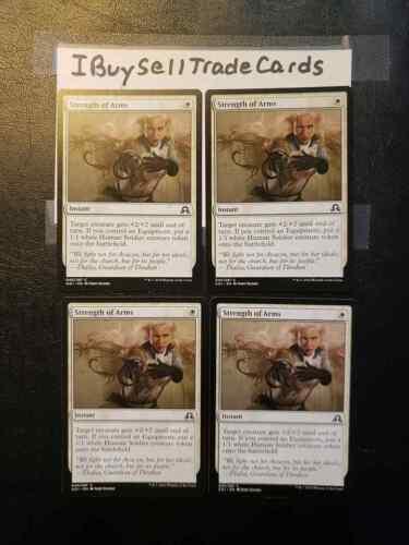 4 Strength of Arms Shadows Innistrad Playset NM x4 Magic FAST FREE SHIP 4x MTG