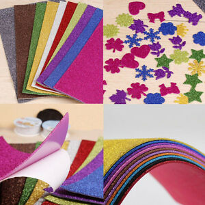 10pcs adhesive glitter scrapbooking paper vinyl sticker for Vinyl sheets for crafts