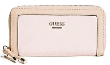Guess Prewitt Wallet Blush Pink Logo Zip-Around Clutch Purse
