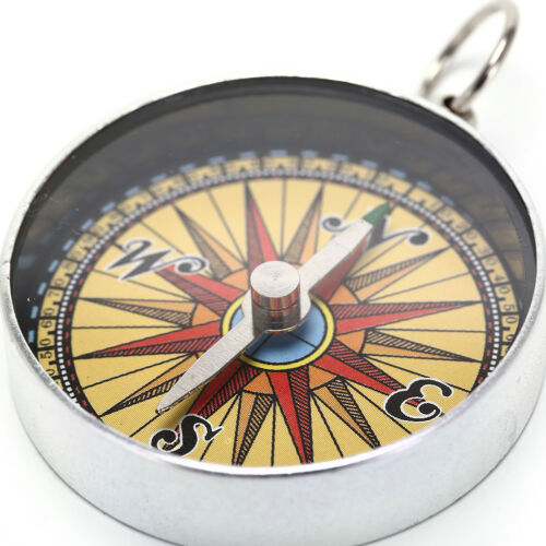 1pc Portable Camping Outdoor Compass Hiking Survival Tools with Key Chain Ring I