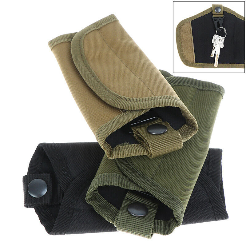 Outdoor Military Pouch Belt Tactical Key Pocket Key chain Holder Case^