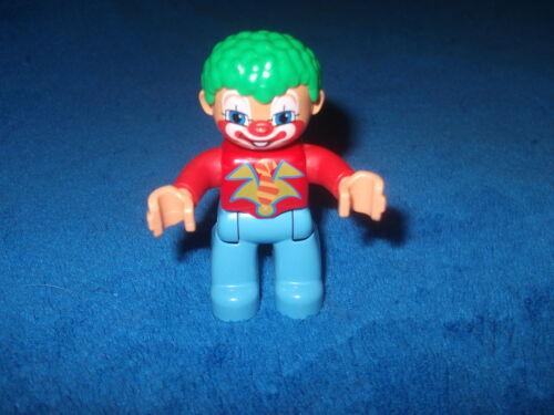 LEGO DUPLO VILLE 1 X CLOWN ZIRKUS FIGUR MÄNNCHEN NEUES MODELL Rot Blau Wow