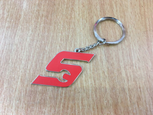 Genuine Snap-On Tools Red S Metal Keyring Mechanics Brand New