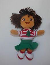 Ty Dora The Explorer Christmas  Beanie Beanbag Plush Stuffed Toy