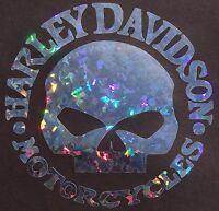 Custom Harley Davidson Willie Holographic Metal Flake Decalsticker 6