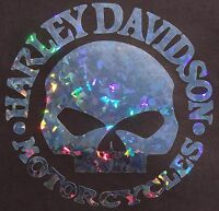 Custom Harley Davidson Willie Holographic Metal Flake Decalsticker 6