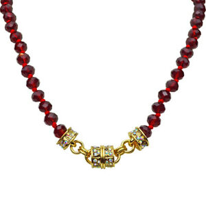 Kirks-Folly-Love-Potion-Beaded-Magnetic-Interchangeable-Necklace-Goldtone-Red