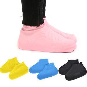 1 Pair Reusable Latex Waterproof Shoes Covers Slip-resistant Rubber Rain  Cover | eBay