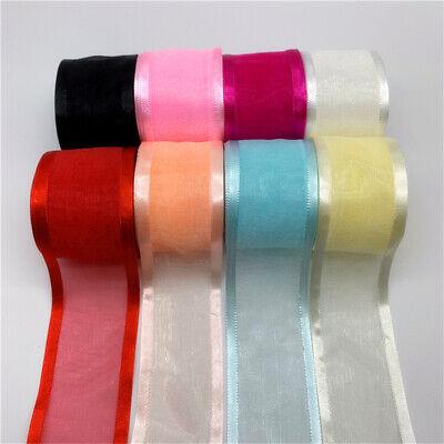 New 50 yard 3//4(20mm) Organza Ribbon//wedding//Craft Roll Spool Sheer Pick colors