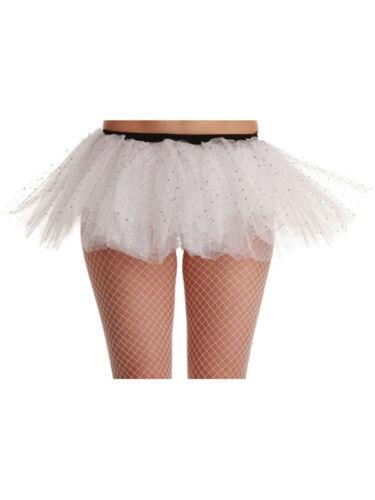 "Onorevoli 22 /"" 42/"" Girovita BIANCO sequin Tutu Costume Ragazze Dance Party standard miliardi"