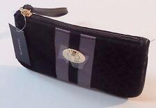 Tommy Hilfiger Black Jacquard Wristlet Clutch Case.
