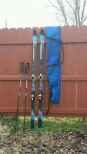 """""""Rossignol"""" VC3 Carbon Skis 193 Salomon 850 Bindings Rossignol Poles With Straps"""
