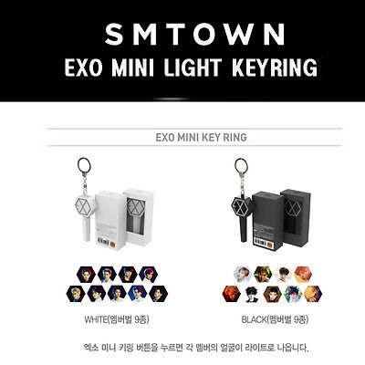 SM SUM GOODS - EXO MINI LIGHT KEYRING - FREE SHIPPING + Tracking Number