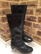 """Dr Martens Jenna amber black Tall boots UK 5 EU 38 2"""" heel"""