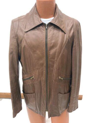 Genuine Vintage 1970s Brown Leather Blazer Jacket… - image 1