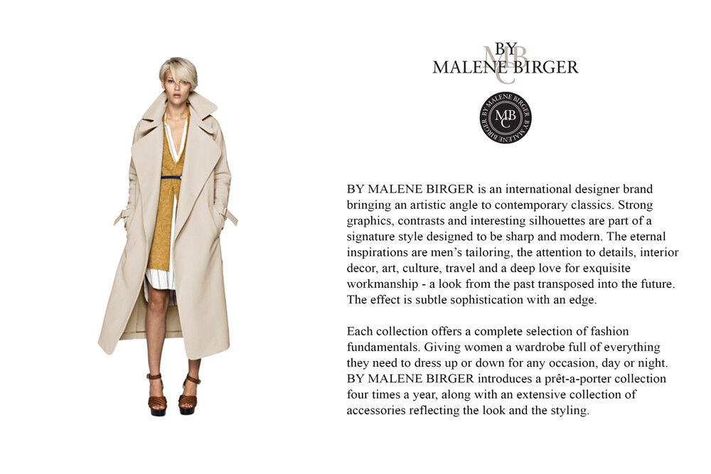 New by malene birger light neutral summer trench coat m eu 38 us 8 travel